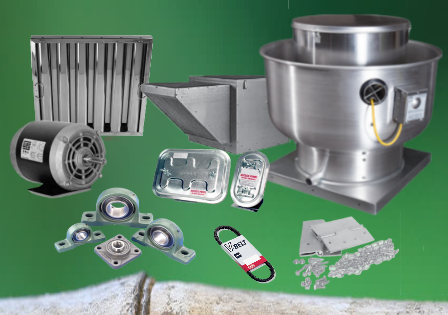 We Provide Repair And New Installation Services Of Kitchen Exhaust Fans,  Motors, Bearings, Pulleys, Belts, Filters.
